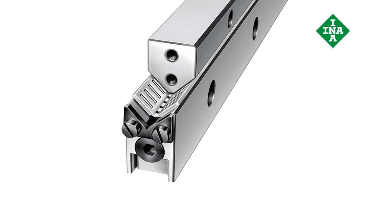 Schaeffler linear guides: M and V guideways with angled flat cage